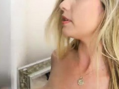 Horny european babe doing solo scene
