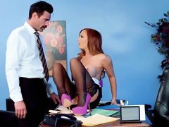 Busty Dani Jensen fucked in the office by the horny boss