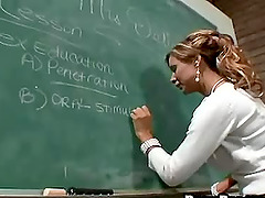 Big tits teacher ravished hardcore doggystyle by student