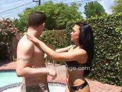 Mya Luanna gives Soapy massage