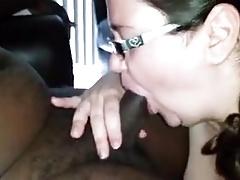 Bbw cuckold wife cums on bbc bull creampie