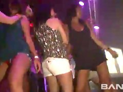 Awesome upskirt party and I would love to sniff all them pantries