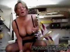 Horny Mature Women Has Sex With Her Staff