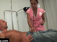 Tranny nurse seduces patient with a hard dick