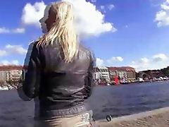 Blonde euro amateur gets laid in public