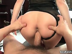Lovely girl with a nice big ass sucking part3