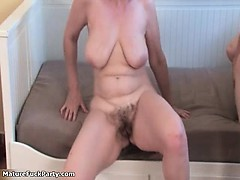Nasty mature sluts go crazy part1