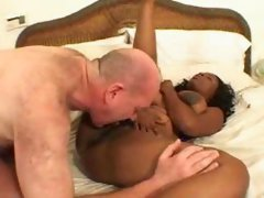 Hairy black girl with a nice big tits